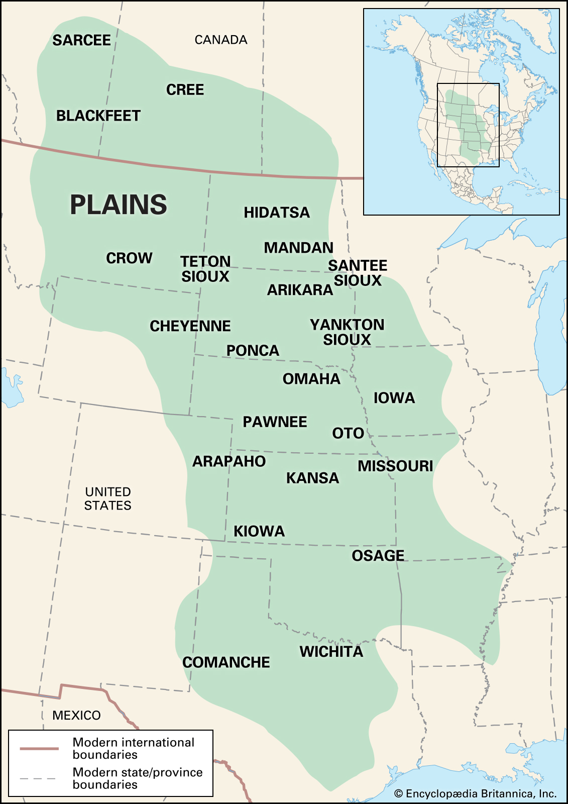 Native American Cultural Regions Map Blank Choice Image