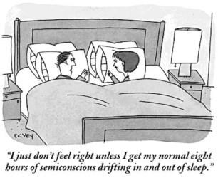 sleep sheep cartoons cartoon humor deprivation mankoff memory yorker insomnia newyorker let semiconscious bob emotional wake perchance chance very hours
