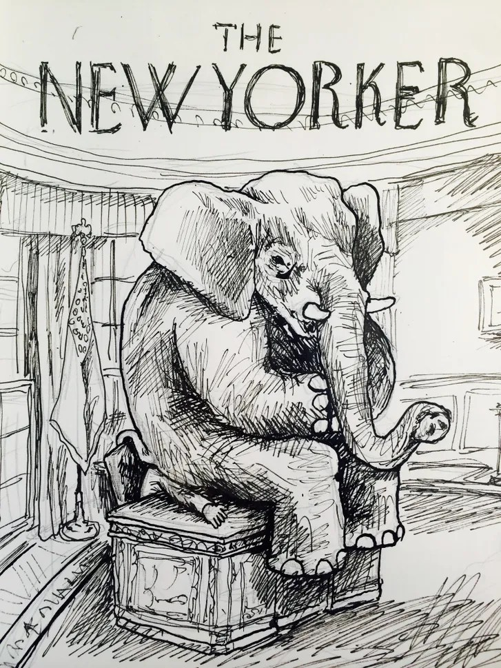 Cover Story Obamas Elephant Problem  The New Yorker