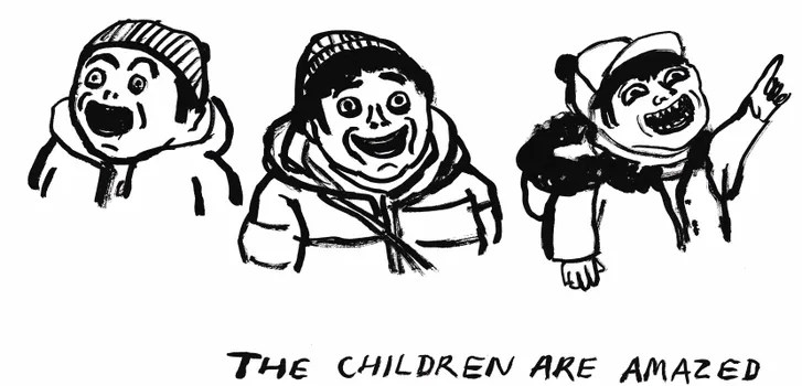 Cartoons from the Opening Ceremony of the Winter Olympics