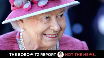 Queen Elizabeth Says Bone Spurs Will Prevent Her from Meeting Trump