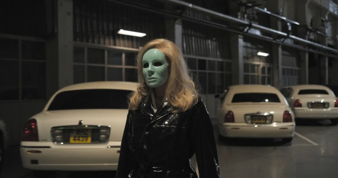 A still from the movie Holy Motors
