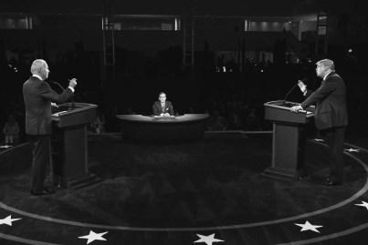 Trump and Biden debate.