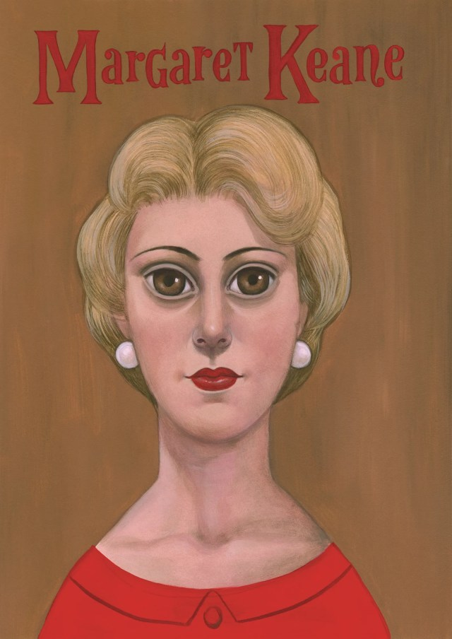 A painting of Margaret Keane.