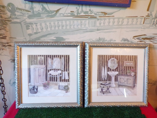 2 Nice Modart Bathroom Wall Decor With Silver Frames Nex Tech Classifieds