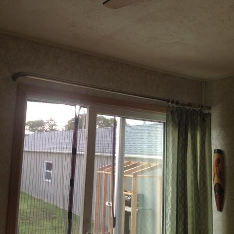 patio door curtain rod