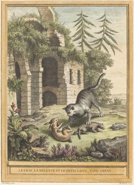 Le Chat, La Belette Et Le Petit Lapin : chat,, belette, petit, lapin, Chat,, Balette, Petit, Lapin, Weasel,, Rabbit)