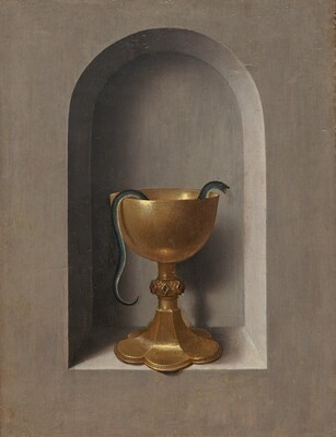 Image result for chalice of st. john  painting