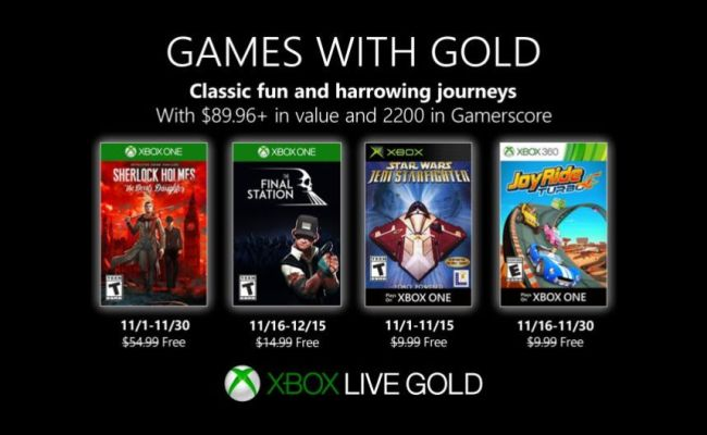 Games With Gold For November 2019 Announced Niche Gamer