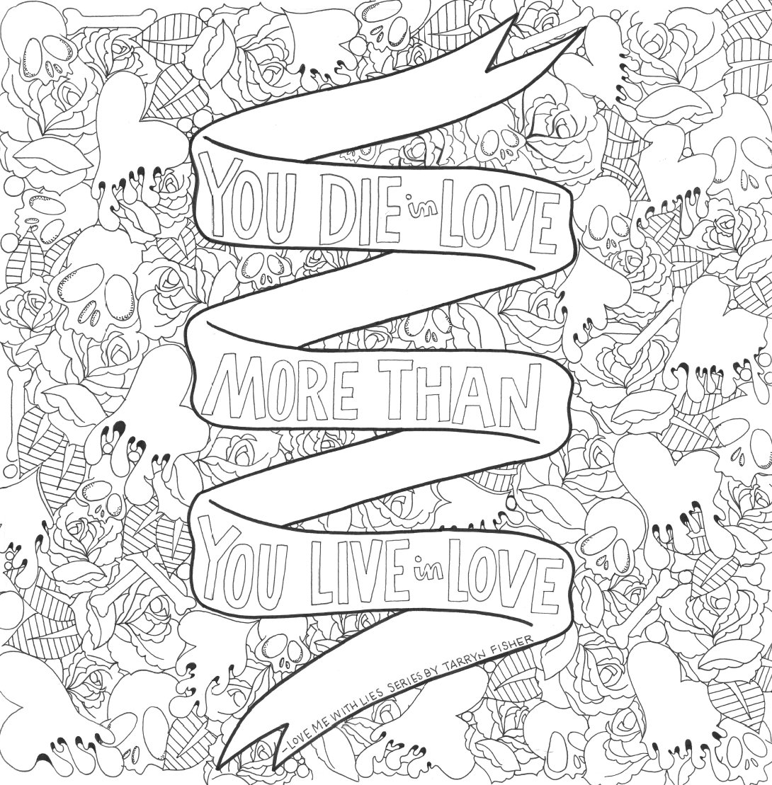 Love Between the Lines Coloring Book by Christina Collie