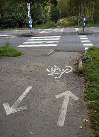 cykelbana smal
