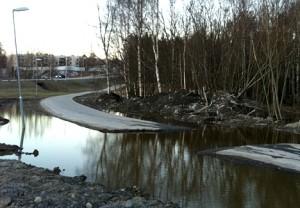 cykelbana vatten