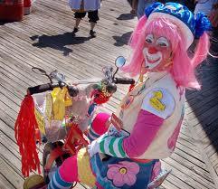 clown på cykel