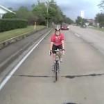 Cykla i bilfilen istället