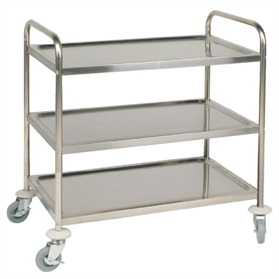 stainless kitchen cart hood fan vogue steel 3 tier clearing trolley large f995 buy flat pack st 855lx535wx940mmh