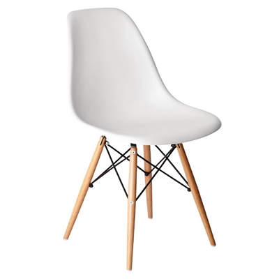 eames chair white fishing forum bolero polypropylene replica chairs pack of 2 gg913 pp moulded with wooden spindle legs
