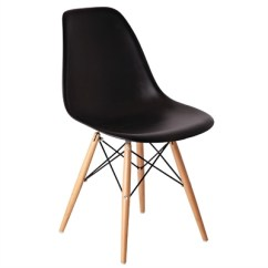 Black Eames Chair Osaki 7075r Massage Review Bolero Polypropylene Replica Chairs Pack Of 2 Gg914 Pp Moulded With Wooden Spindle Legs