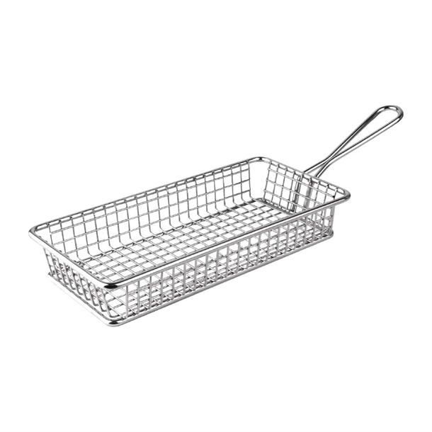Olympia Rectangular Presentation Fryer Basket 215mm