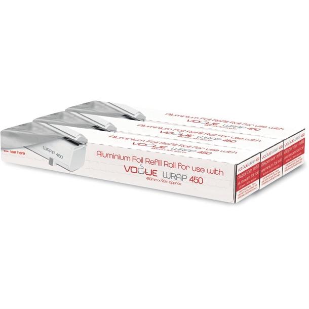 rouleaux de papier aluminium pour distributeur wrap450 vogue