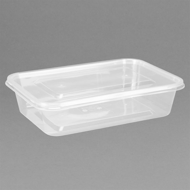 fiesta plastic microwavable containers with lid pack of 250