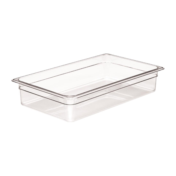 Cambro Clear Polycarbonate 1/1 Gastronorm Tray 100mm