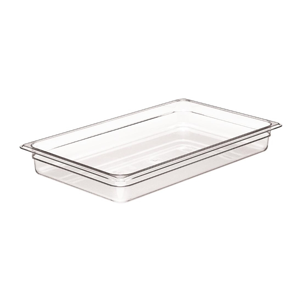 Cambro Clear Polycarbonate 1/1 Gastronorm Tray 65mm
