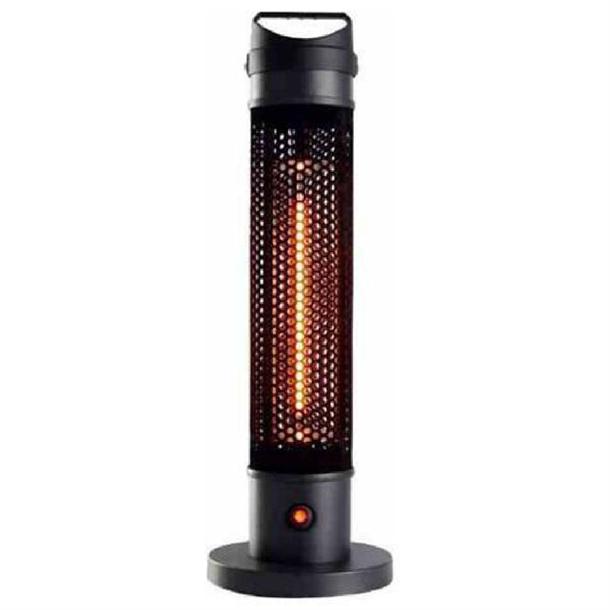 herschel havana portable electric patio heater black 800w