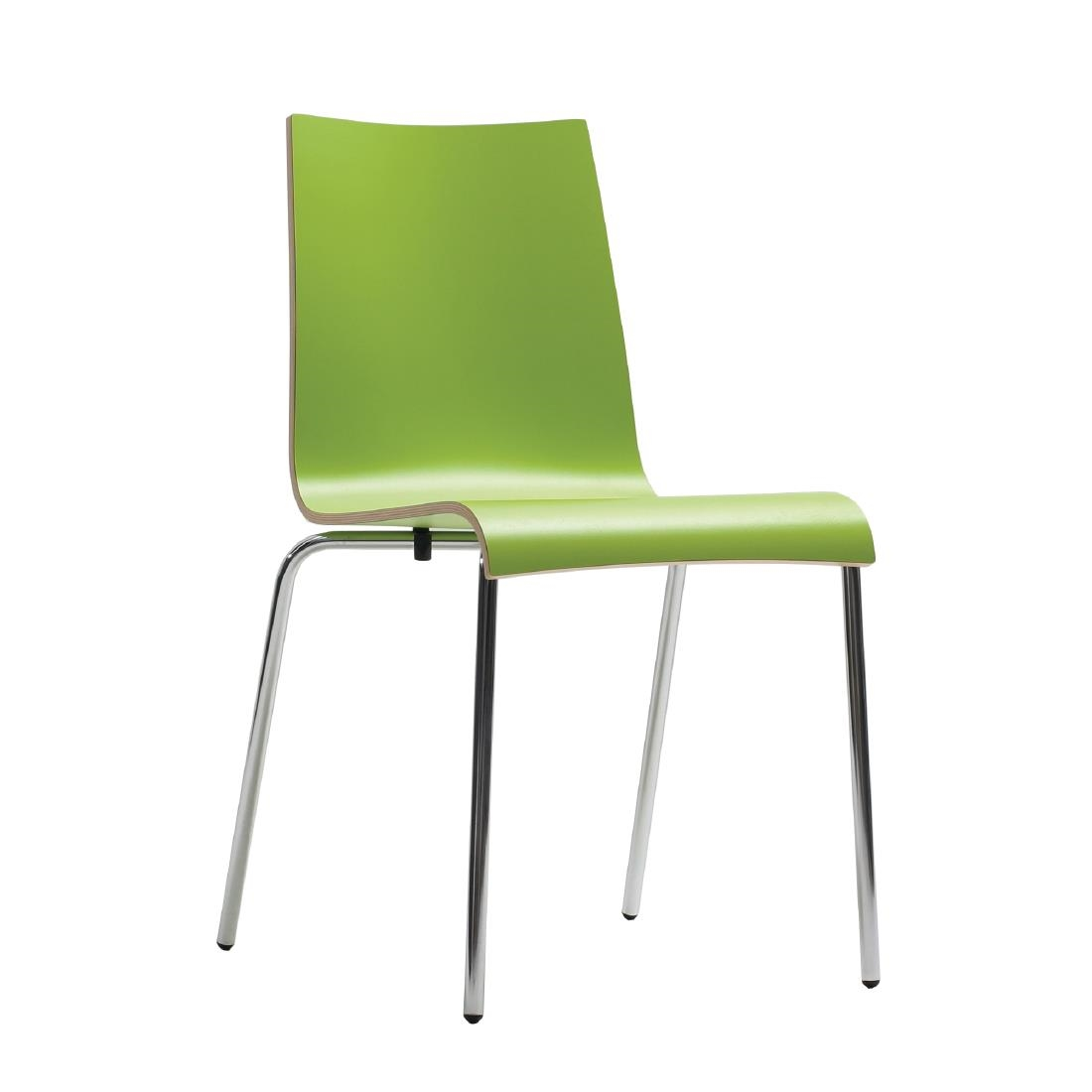Lime Green Chairs Bolero Plyform Stacking Side Chairs Lime Green Pack Of 4