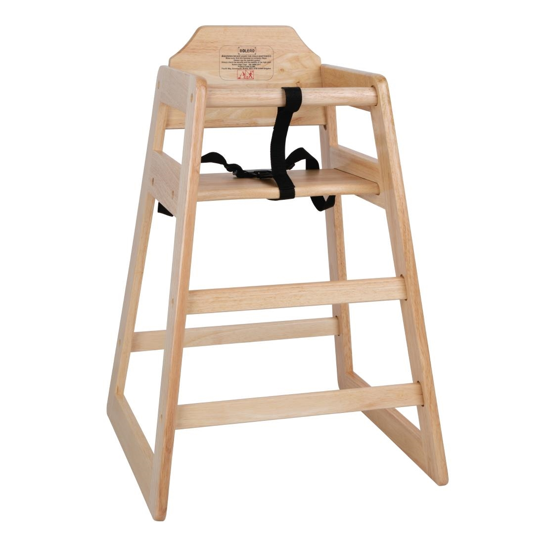 Chair High Chair Bolero Wooden Highchair Natural Finish