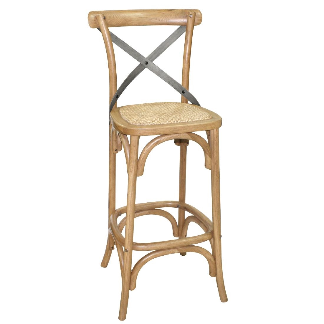 Wood Bar Chairs Bolero Wooden Bar Stool With Backrest
