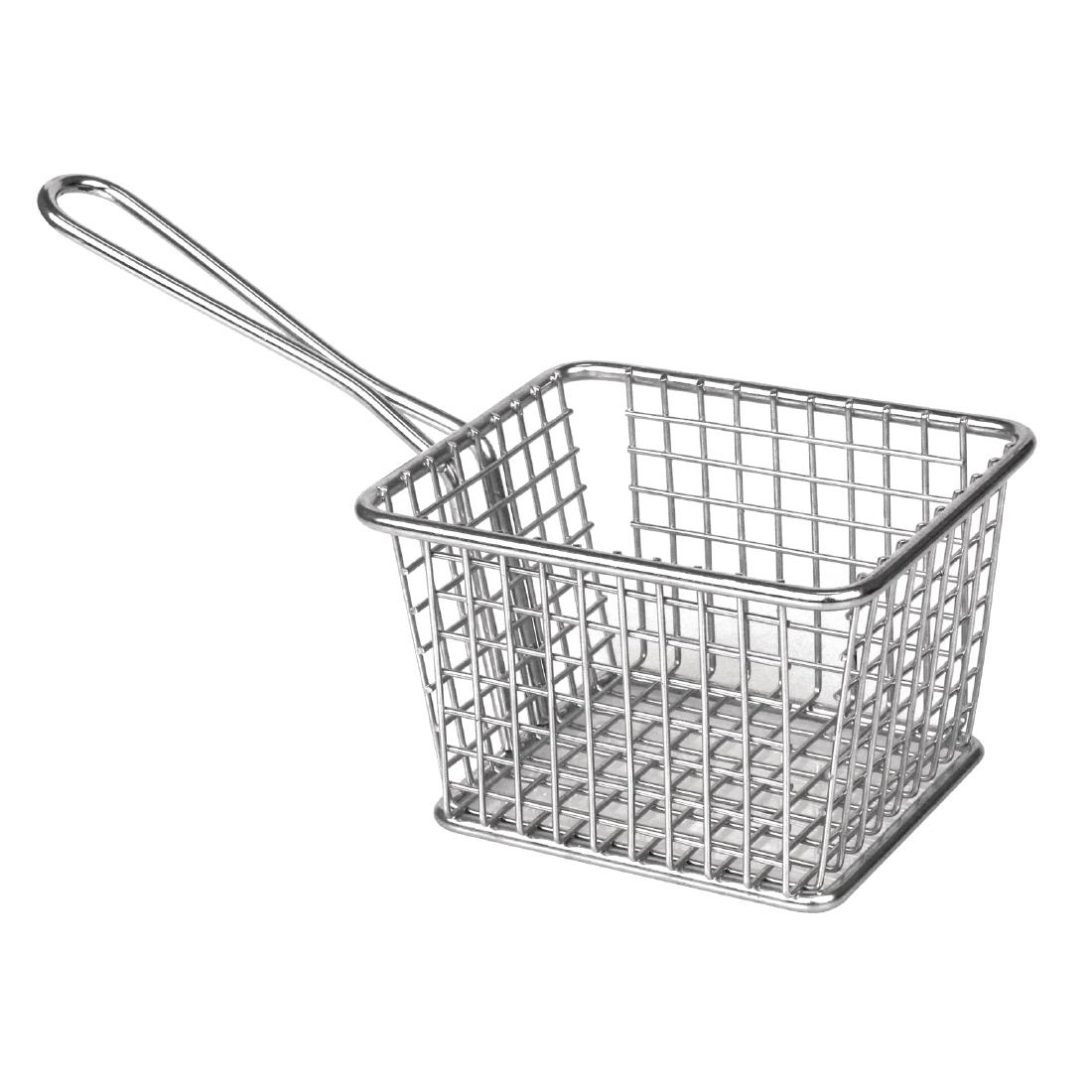 Olympia Large Wire Fries Basket Made of Stainless Steel