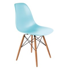 Fake Eames Chair What Is A Geri Bolero Ocean Blue Polypropylene Replica Chairs Pack Of 2 Pp Moulded With Wooden Spindle Legs