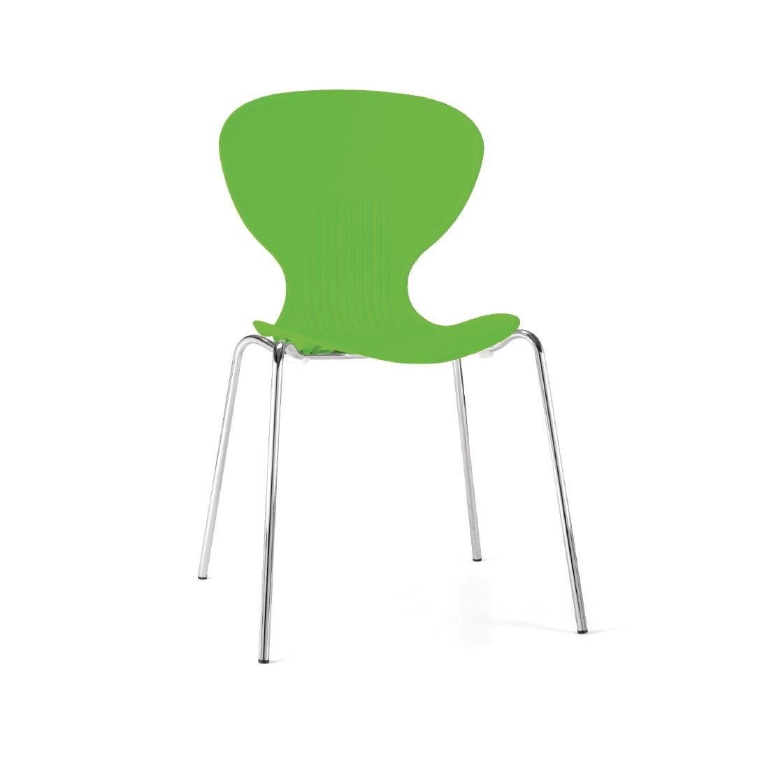 Lime Green Chairs Bolero Lime Stacking Plastic Side Chairs Pack Of 4