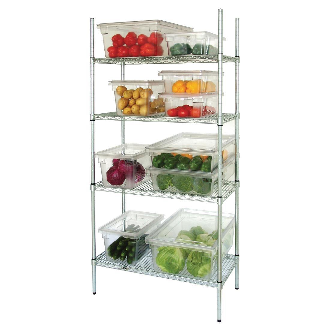Vogue 4 Tier Wire Shelving Kit 915 X 460mm Commercial Kitchen Storage Shelves 5050984064111 Ebay