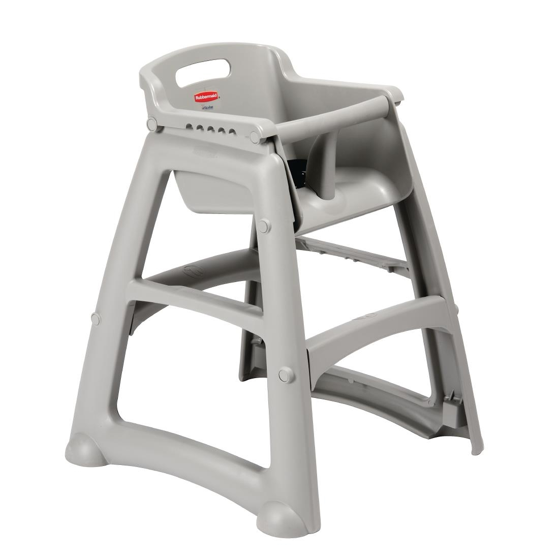 Easy Clean High Chair Details About Rubbermaid Sturdy Stacking High Chairs In Platinum Easy To Clean 756x597x597mm