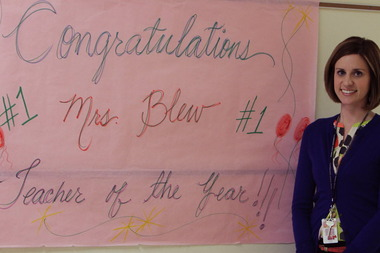 Mrs. Blew Teacher of Year Indian Avenue School