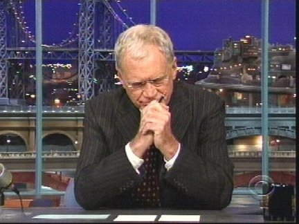 David Letterman is blackmailed