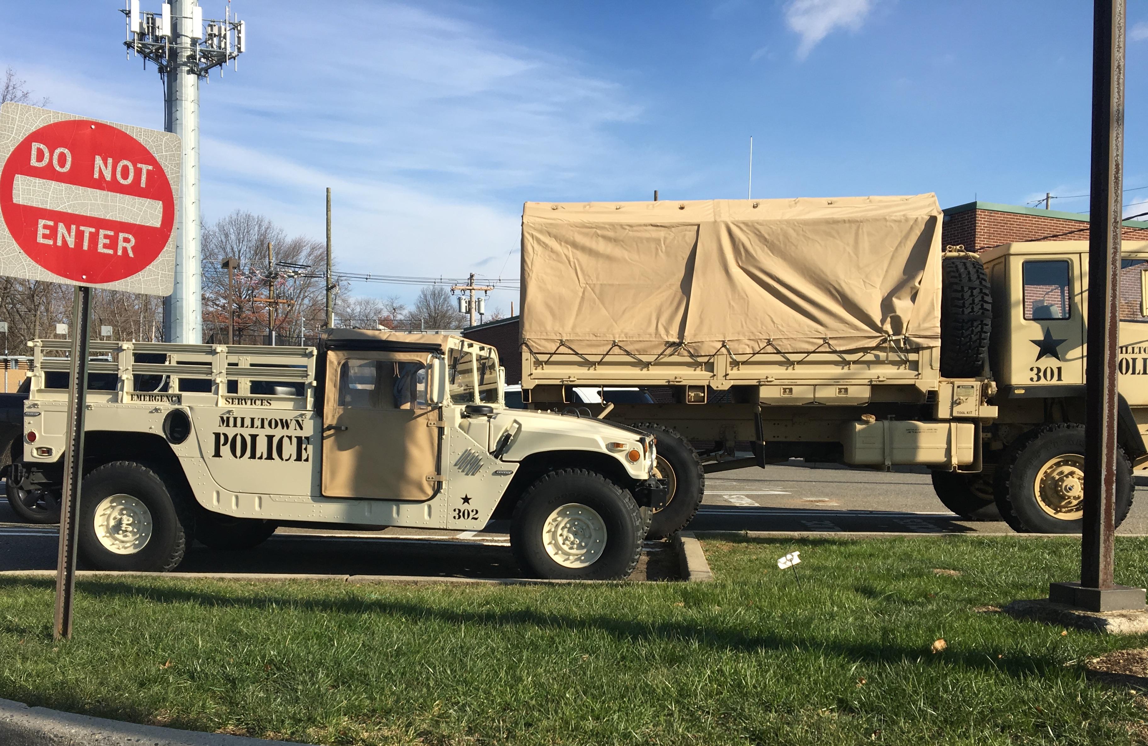 N J cops 2 year military surplus haul $40M in gear 13 armored