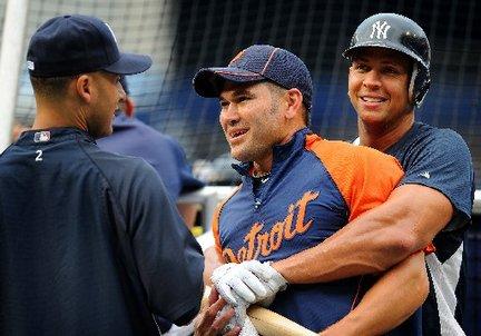 Johnny Damon Tigers Alex Rodriguez Derek Jeter Yankees
