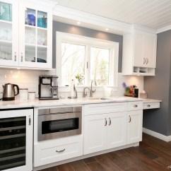 Kitchen Work Station Shaker Style Cabinet Hardware Nkba Transitional