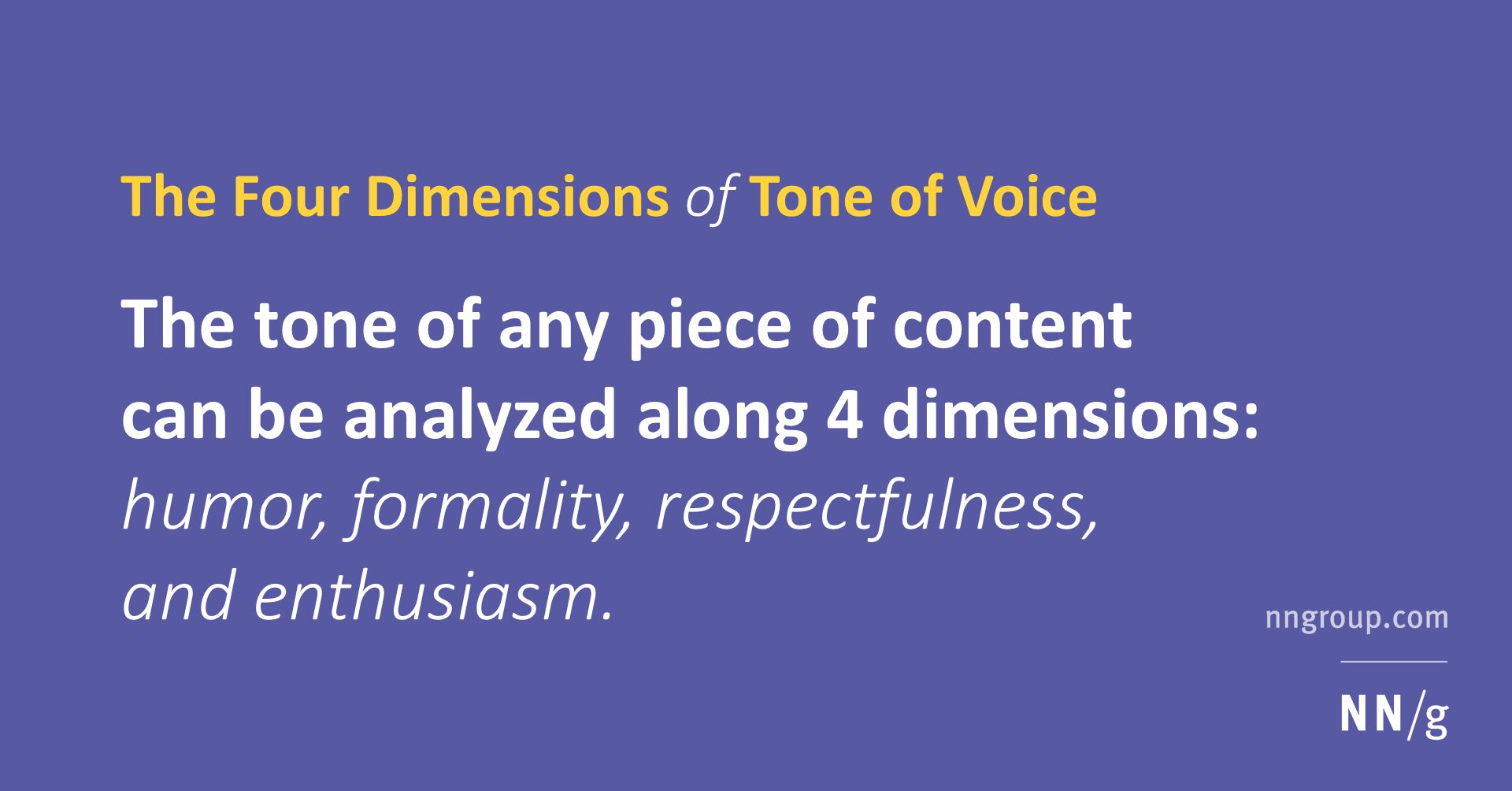 The Four Dimensions Of Tone Of Voice