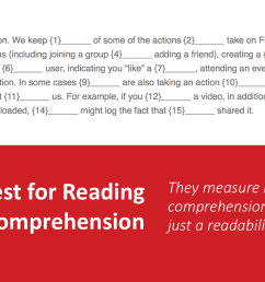 Cloze Test for Reading Comprehension [ 1004 x 1920 Pixel ]