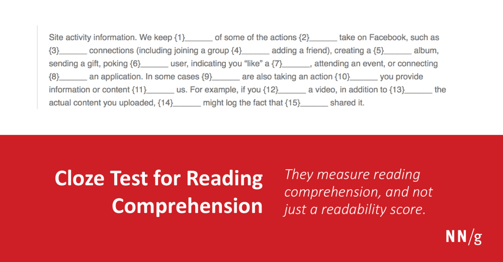 medium resolution of Cloze Test for Reading Comprehension