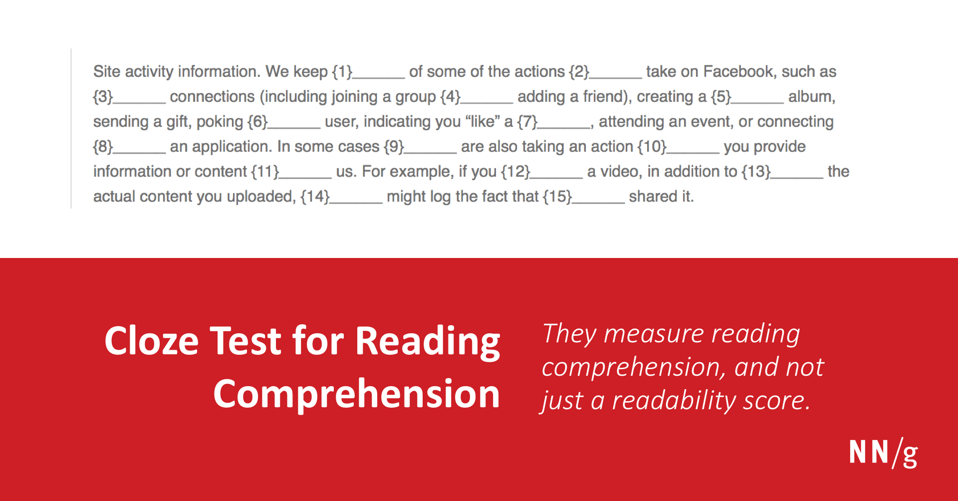 hight resolution of Cloze Test for Reading Comprehension
