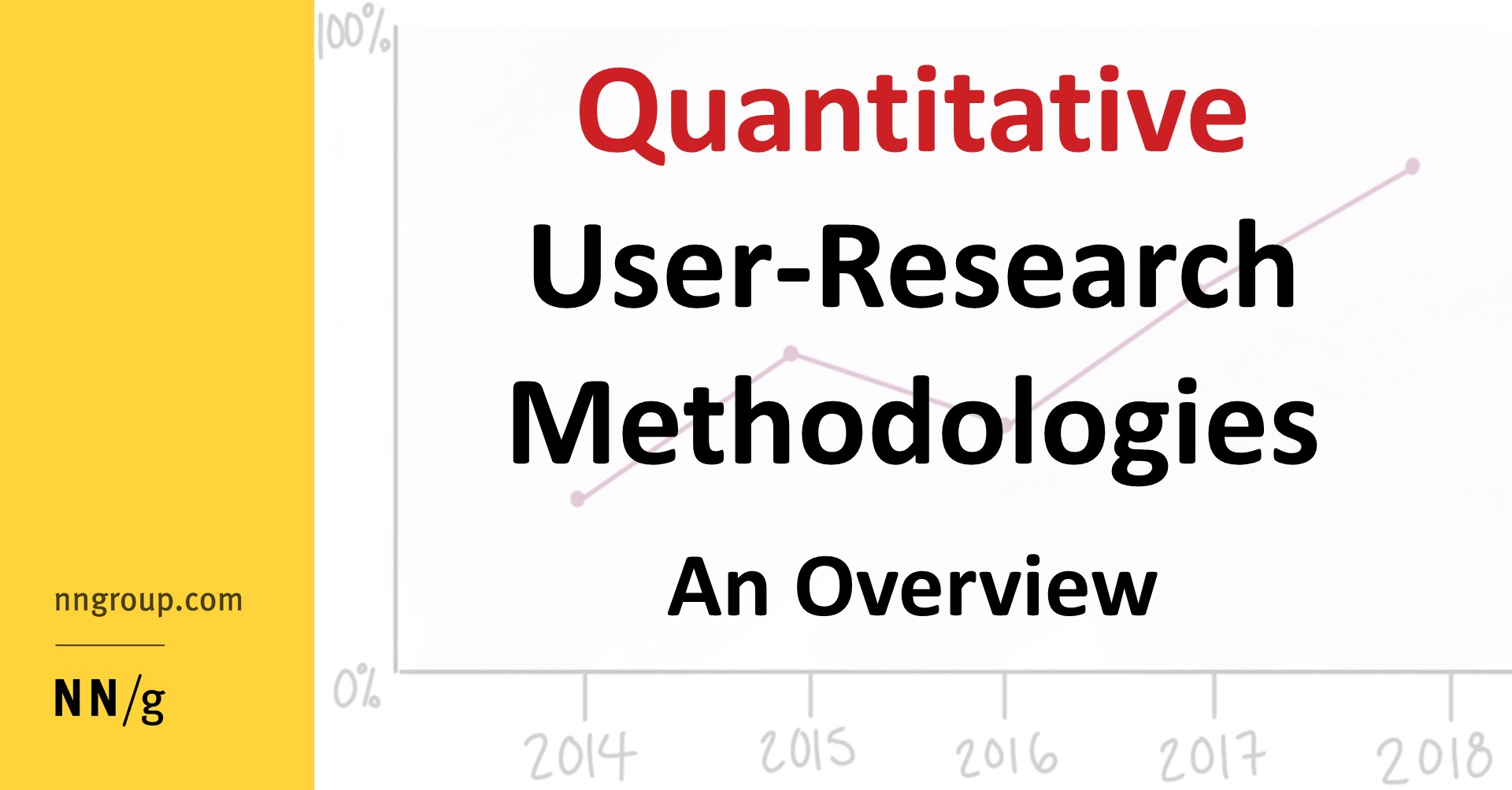Quantitative User Research Methodologies An Overview