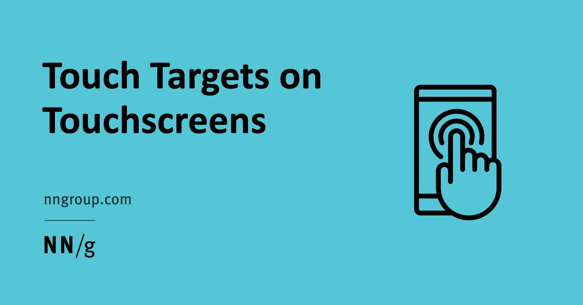 touch targets on touchscreens