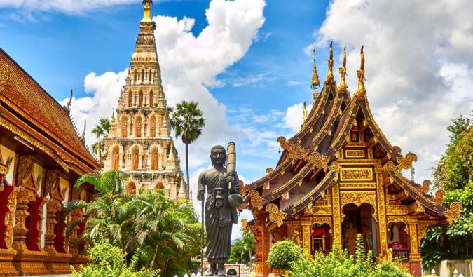 A massive Buddhist temple in Thailand