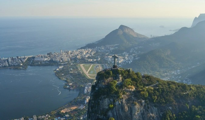The stunning view overlooking the city of Rio in Brazil