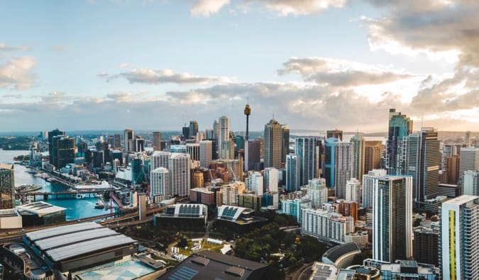 A panorama over Sydney, Australia's Central Business District