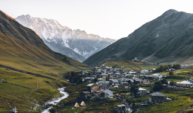 One of the many small villages in the valleys of Georgia